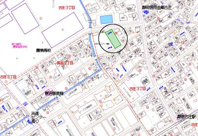 古庄3白井 地図